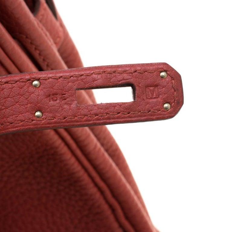 Hermes Rouge Grenat Togo Leather Palladium Hardware Birkin 30 Bag 2