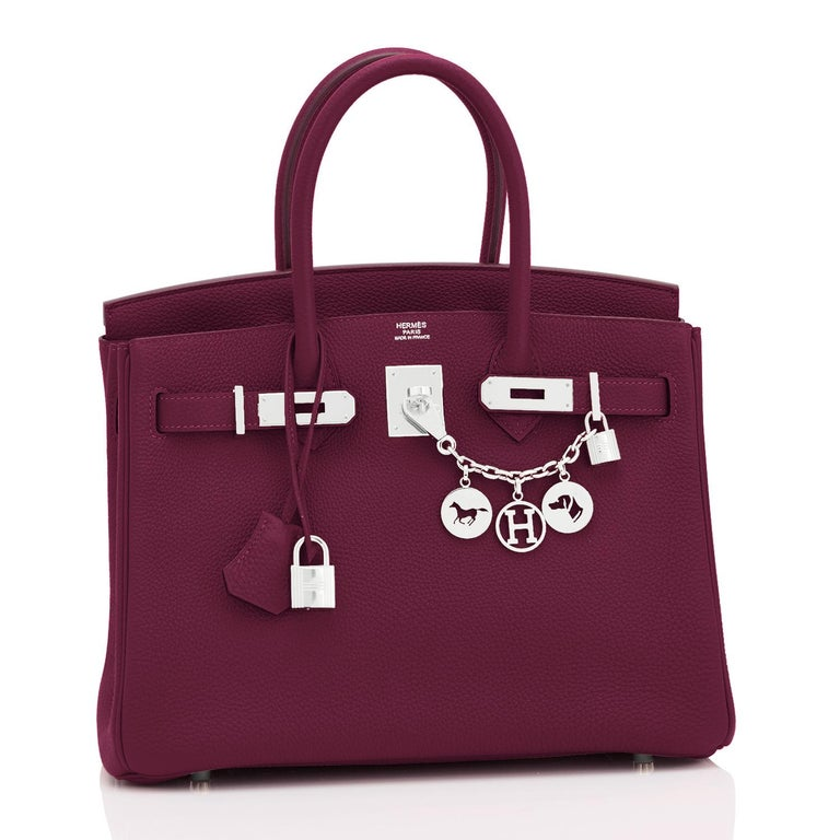 Hermes Rouge H 30cm Birkin Togo Palladium Y Stamp, 2020 Devastatingly gorgeous!! Brand New in Box.  Store Fresh.  Pristine Condition (with plastic on hardware). Just purchased from Hermes store! Bag bears new interior 2020 Y Stamp. Perfect gift!