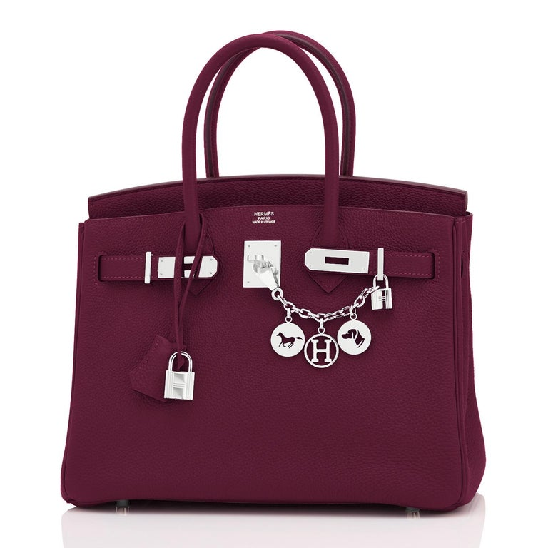 Hermes Rouge H Red Birkin 30cm Togo Palladium Bag Y Stamp, 2020 In New Condition For Sale In New York, NY