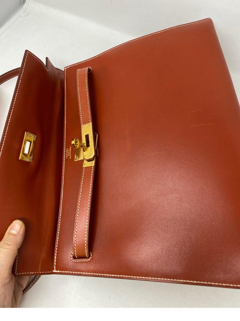 Hermes Rouge Kelly 35 Tadelakt Griss Interior Bag For Sale 10