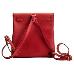Hermès Rouge Kelly Backpack Bag