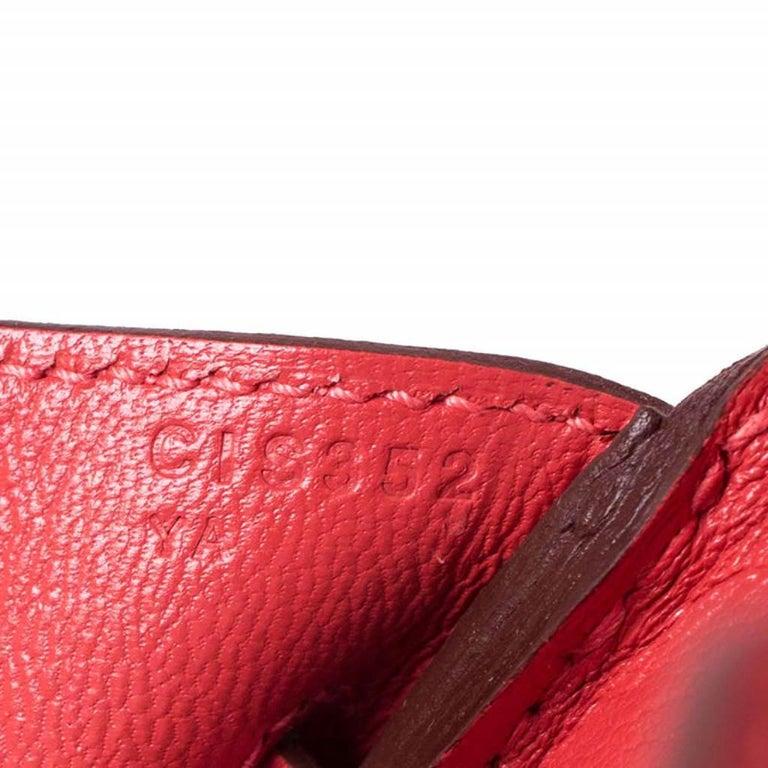 Hermes Rouge Pivoine Togo Leather Gold Hardware Birkin 30 Bag 6