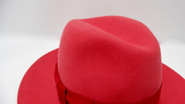 Hermés Fedora Hat  In Excellent Condition For Sale In Scottsdale, AZ