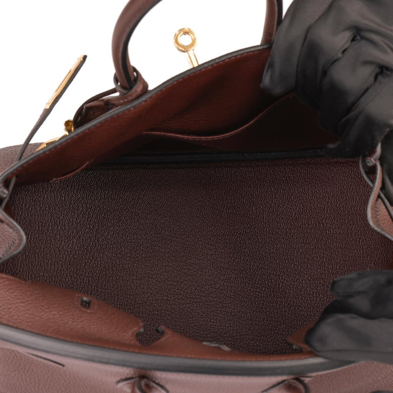 Hermès Rouge Sellier Togo Leather Birkin 25cm For Sale 5