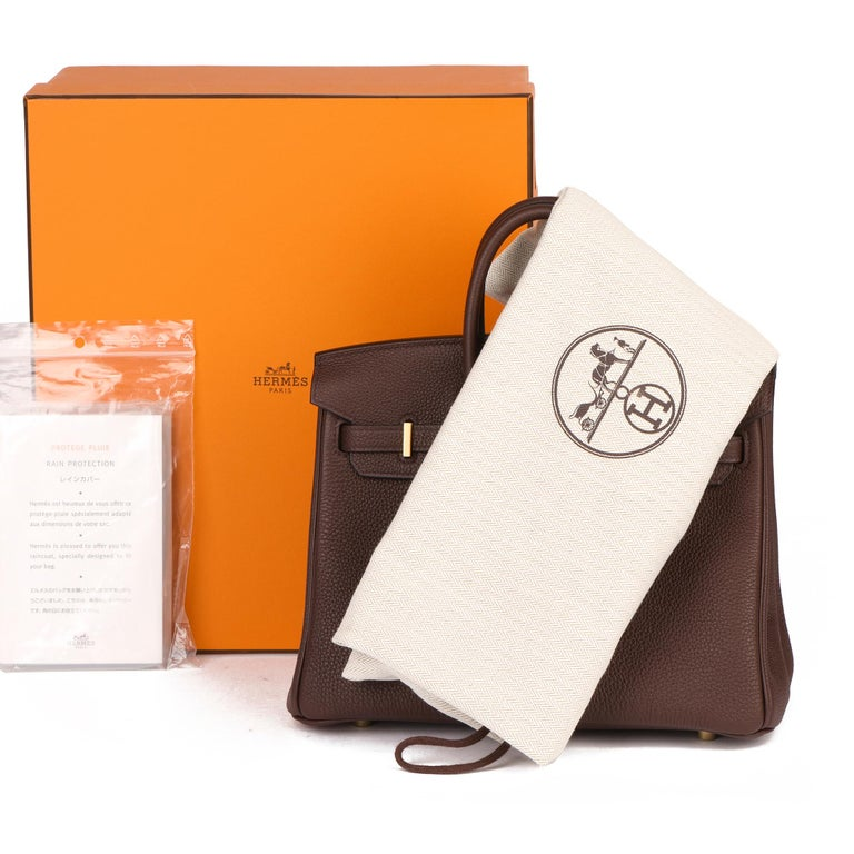 Hermès Rouge Sellier Togo Leather Birkin 25cm For Sale 6