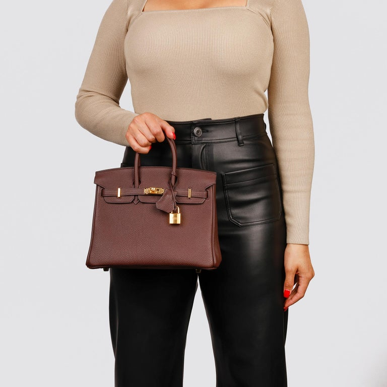Hermès Rouge Sellier Togo Leather Birkin 25cm For Sale 7