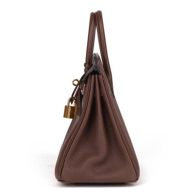 Hermès Rouge Sellier Togo Leather Birkin 25cm In New Condition For Sale In Bishop's Stortford, Hertfordshire
