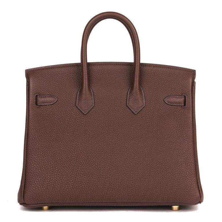 Women's Hermès Rouge Sellier Togo Leather Birkin 25cm For Sale