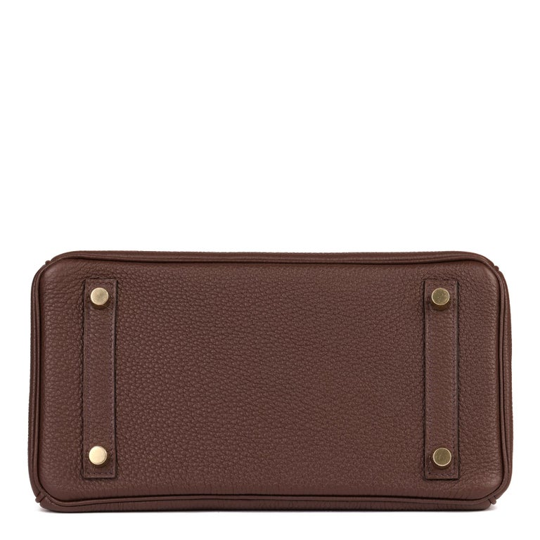 Hermès Rouge Sellier Togo Leather Birkin 25cm For Sale 1