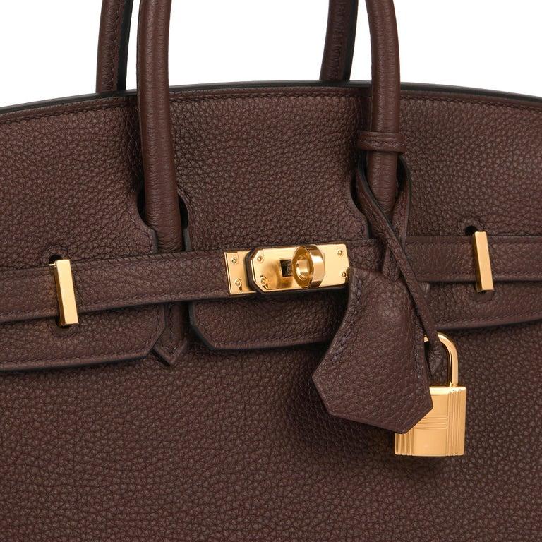 Hermès Rouge Sellier Togo Leather Birkin 25cm For Sale 2