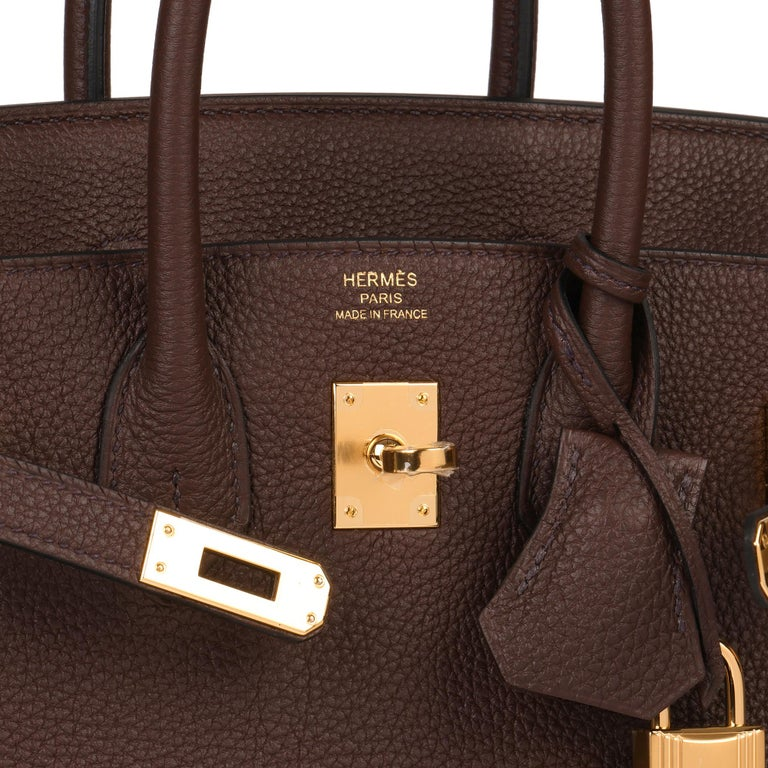 Hermès Rouge Sellier Togo Leather Birkin 25cm For Sale 3