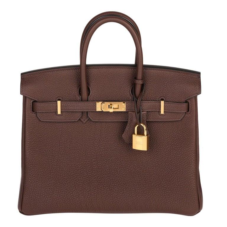 Hermès Rouge Sellier Togo Leather Birkin 25cm For Sale