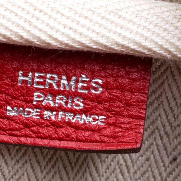 Hermes Rougue Garance Togo Leather Victoria II Bag For Sale 5