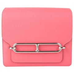 Hermes Mini Roulis Bag Rose Azalee Pink (Convertible Shoulder to Crossbody)