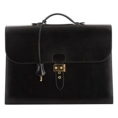 Hermes Sac a Depeches Bag Box Calf 38