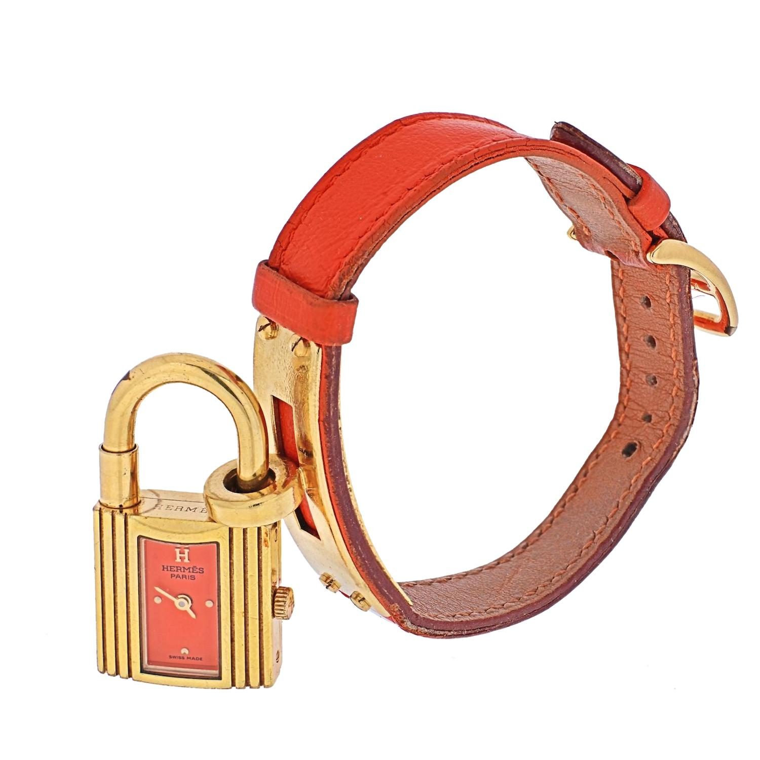 Hermes Salmon Coral Kelly Watch