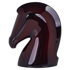 Hermes Samarcande Paperweight Aubergine Lacquered Wood New/ Box