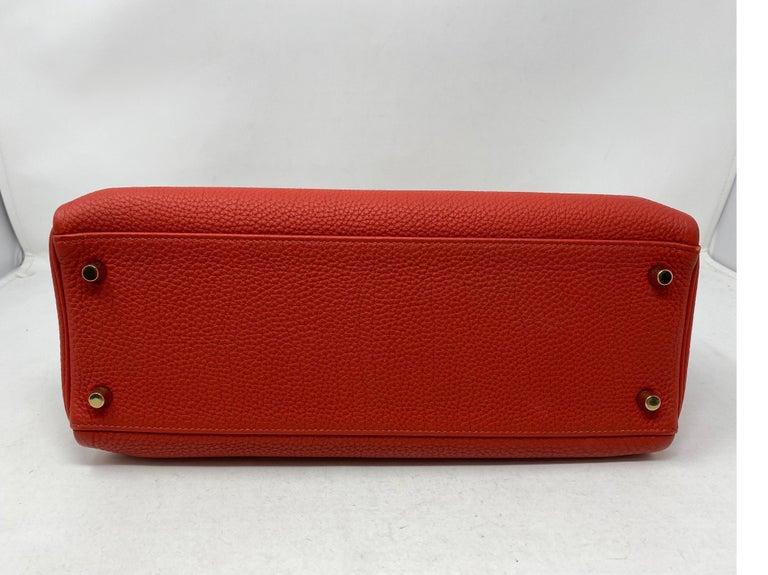 Hermes Sanguine Kelly 32 Bag  For Sale 5