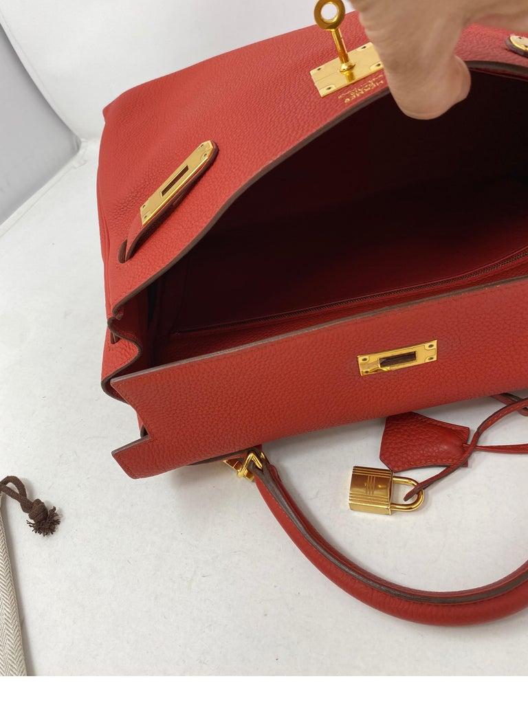 Hermes Sanguine Kelly 32 Bag  For Sale 6