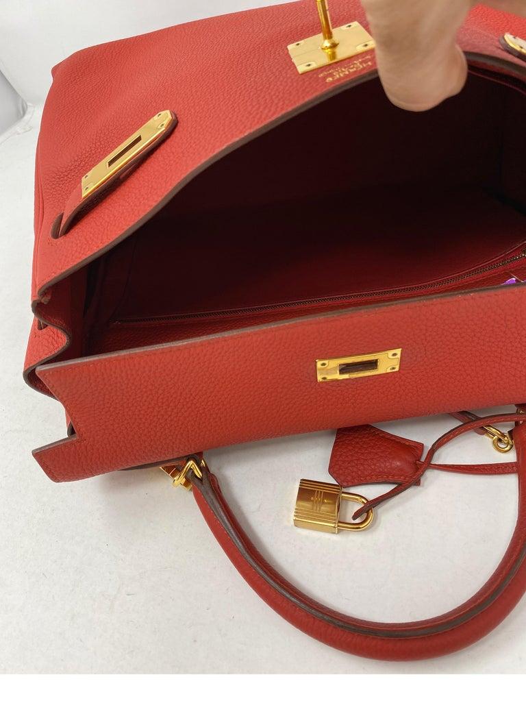 Hermes Sanguine Kelly 32 Bag  For Sale 7
