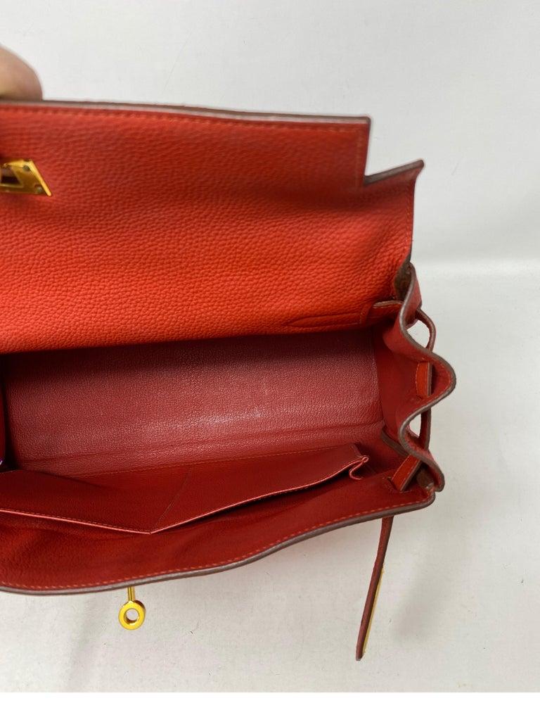 Hermes Sanguine Kelly 32 Bag  For Sale 8