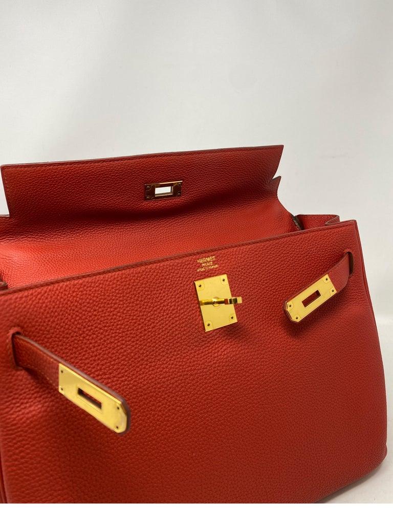 Hermes Sanguine Kelly 32 Bag  For Sale 9