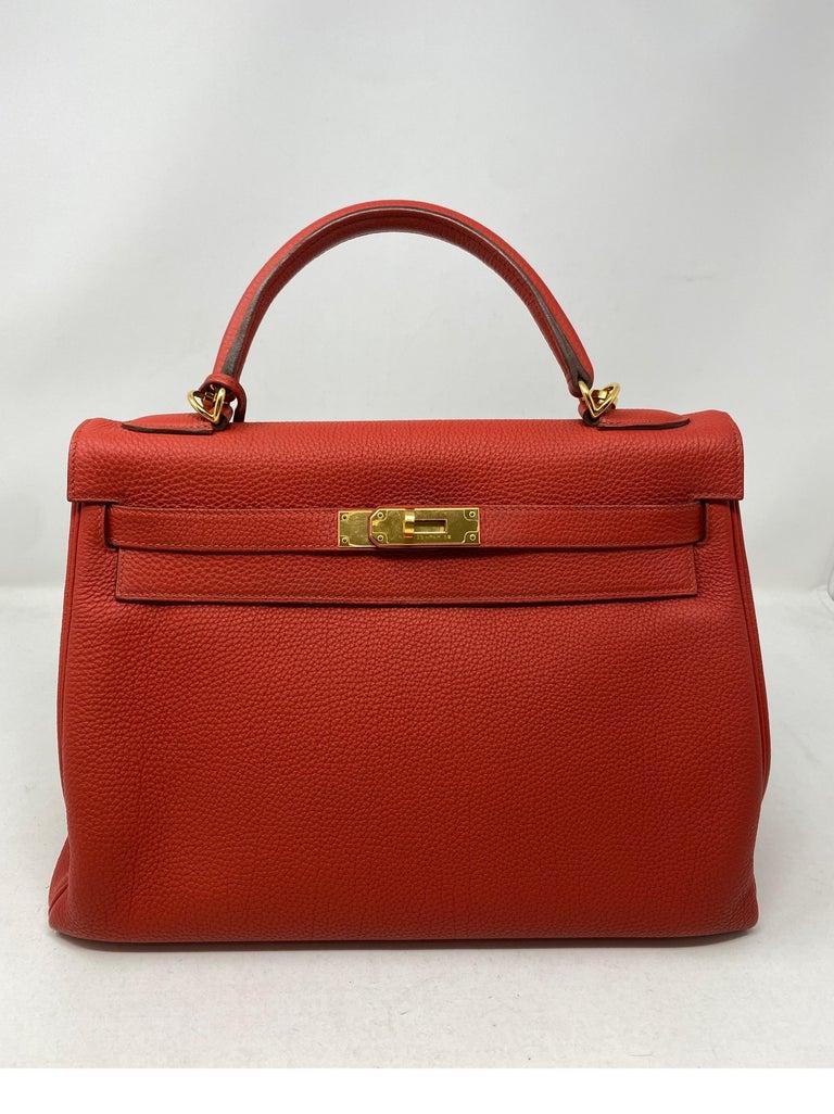Hermes Sanguine Kelly 32 Bag  For Sale 10
