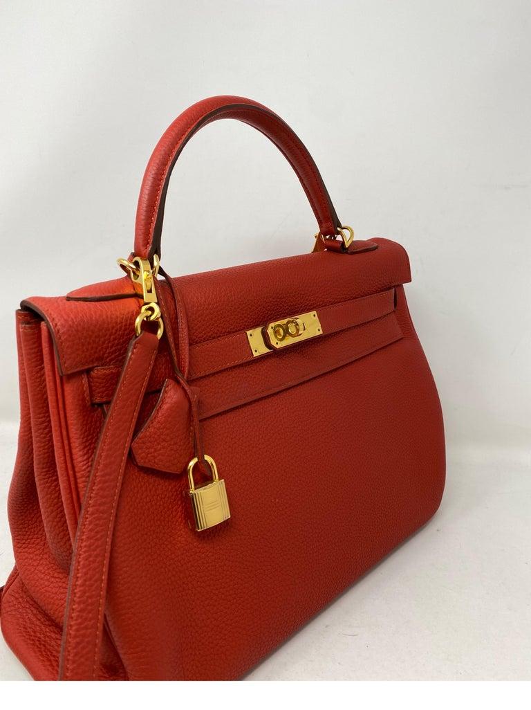 Hermes Sanguine Kelly 32 Bag  For Sale 11