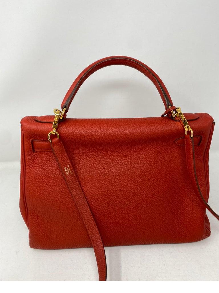Women's or Men's Hermes Sanguine Kelly 32 Bag  For Sale