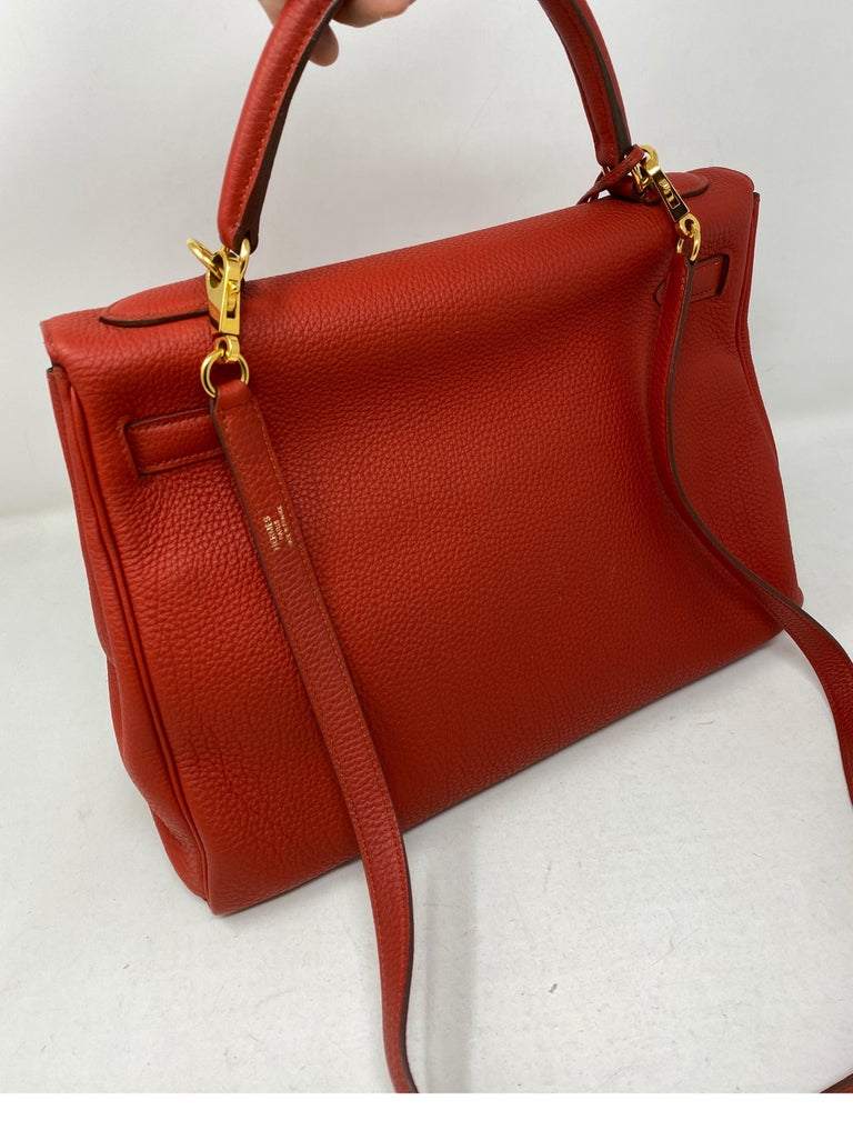 Hermes Sanguine Kelly 32 Bag  For Sale 1