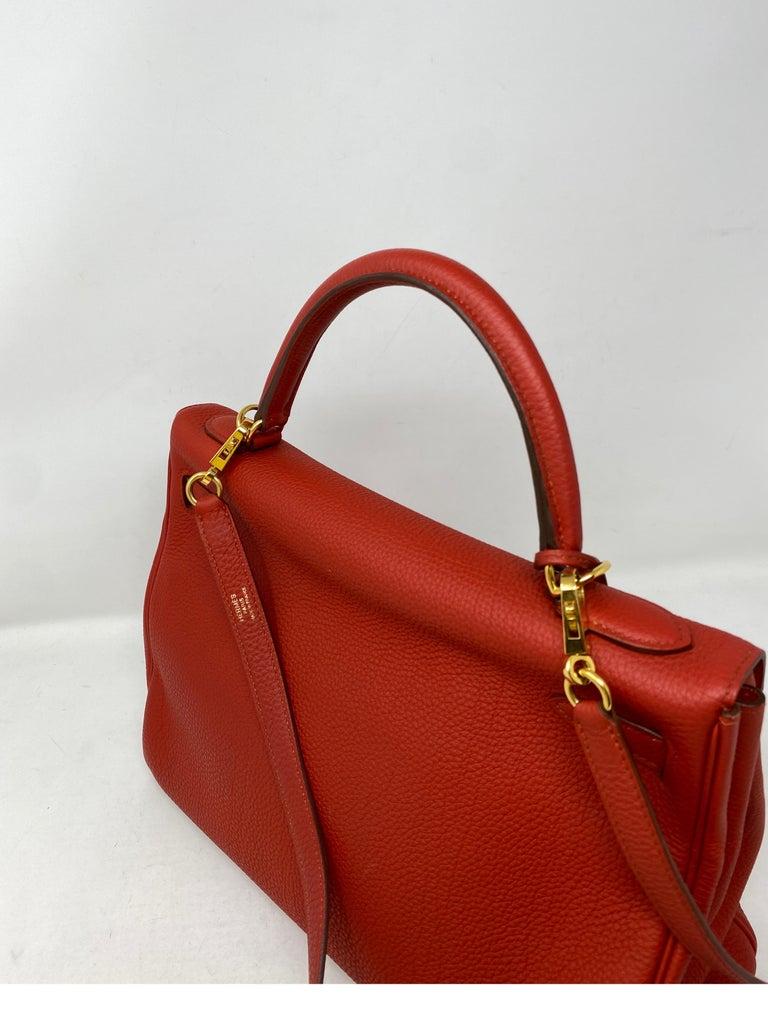 Hermes Sanguine Kelly 32 Bag  For Sale 2