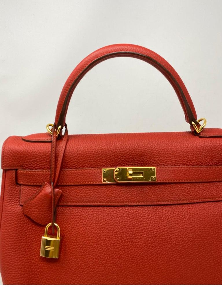 Hermes Sanguine Kelly 32 Bag  For Sale 3