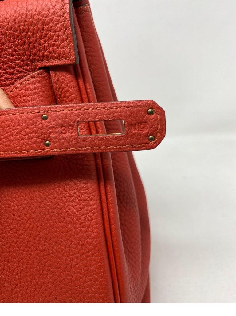 Hermes Sanguine Kelly 32 Bag  For Sale 4