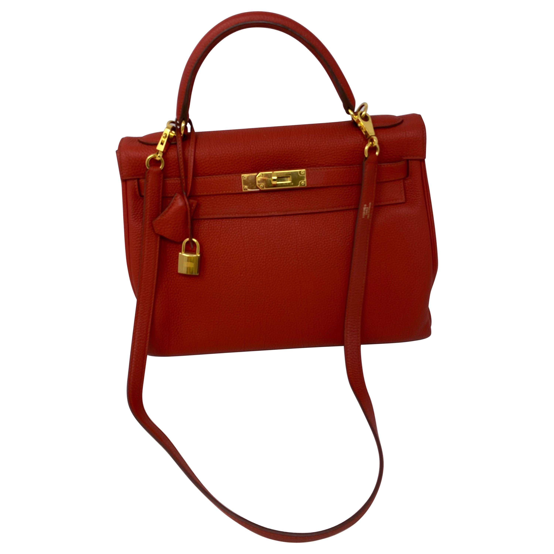 Hermes Sanguine Kelly 32 Bag