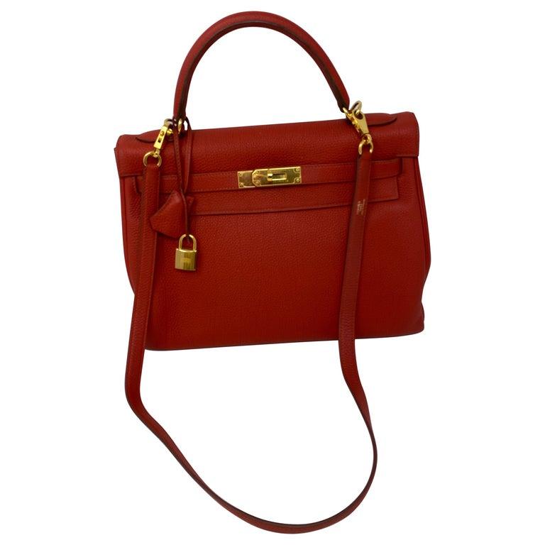 Hermes Sanguine Kelly 32 Bag  For Sale