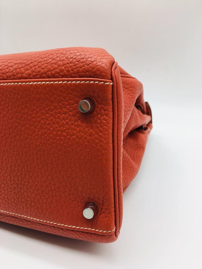 Hermes Sanguine Kelly 35cm in Clemence For Sale 2