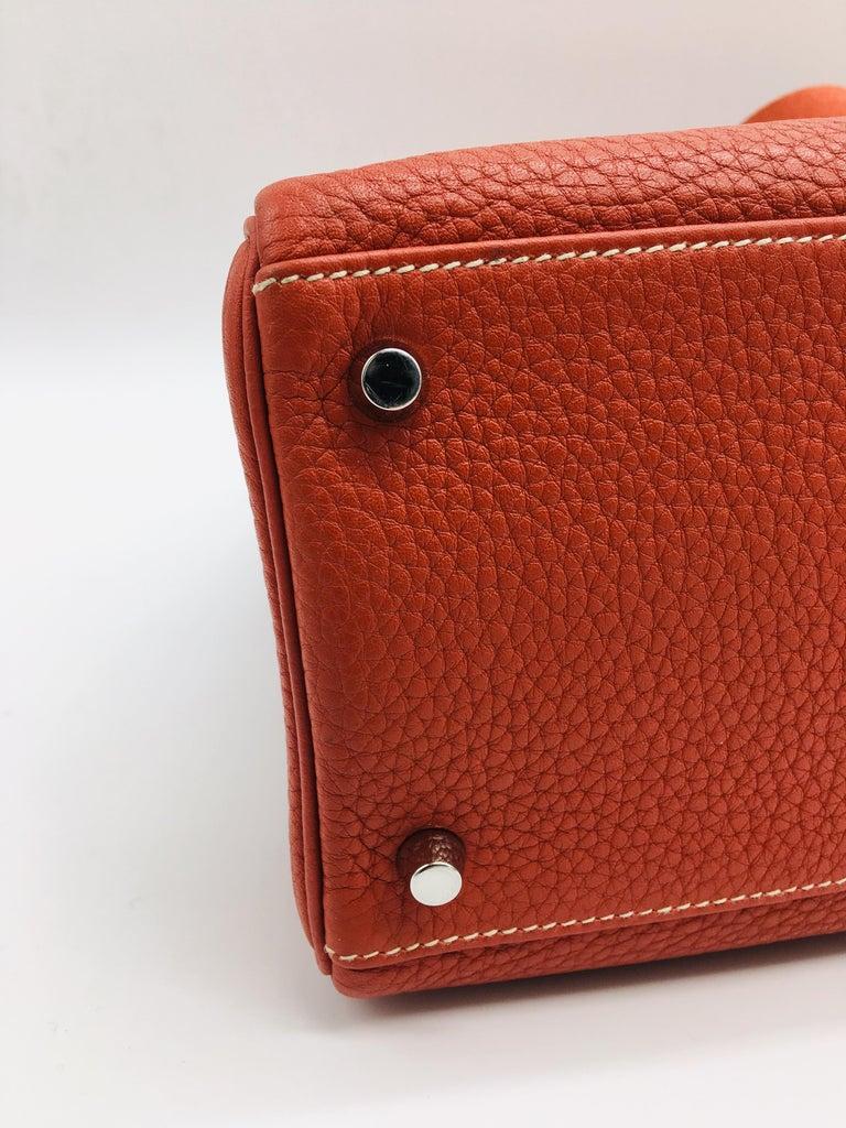 Hermes Sanguine Kelly 35cm in Clemence For Sale 3