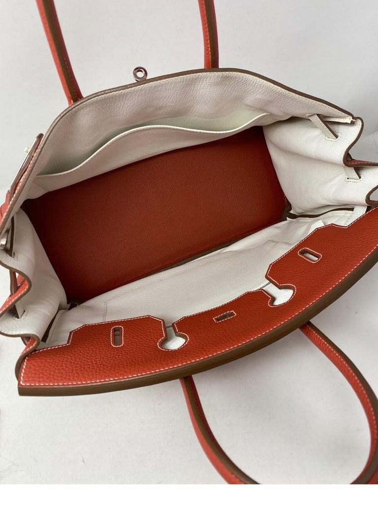 Hermes Sanguine Two Tone Birkin 35 Bag  For Sale 5