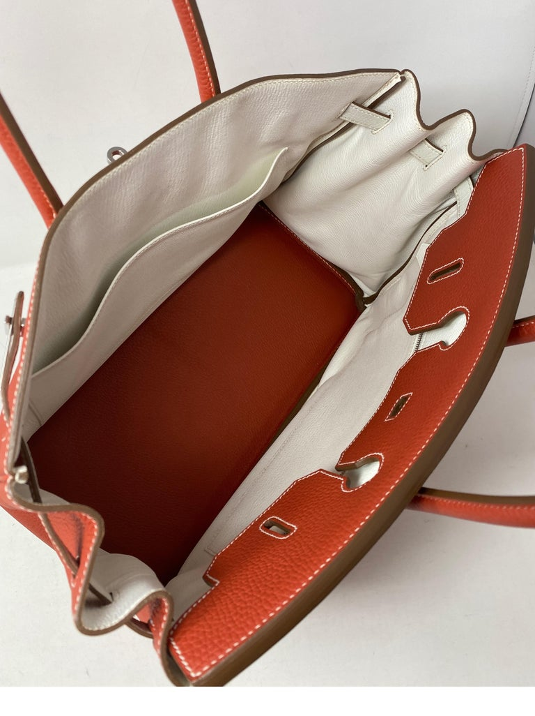 Hermes Sanguine Two Tone Birkin 35 Bag  For Sale 6