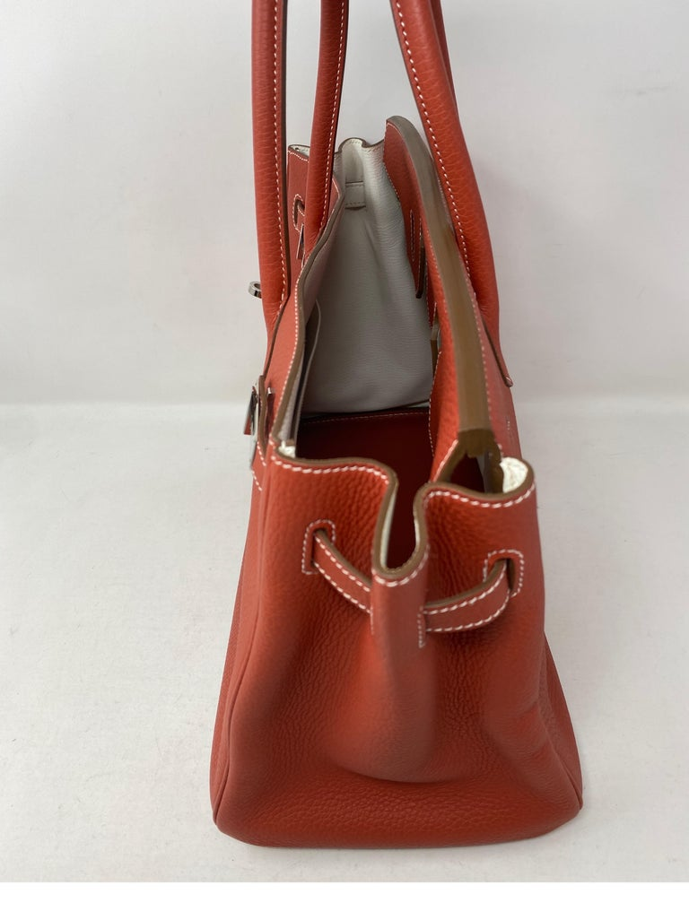 Hermes Sanguine Two Tone Birkin 35 Bag  For Sale 7