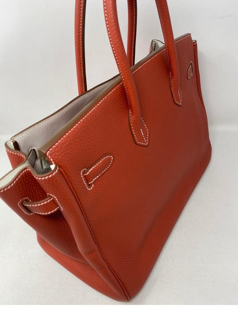 Hermes Sanguine Two Tone Birkin 35 Bag  For Sale 8