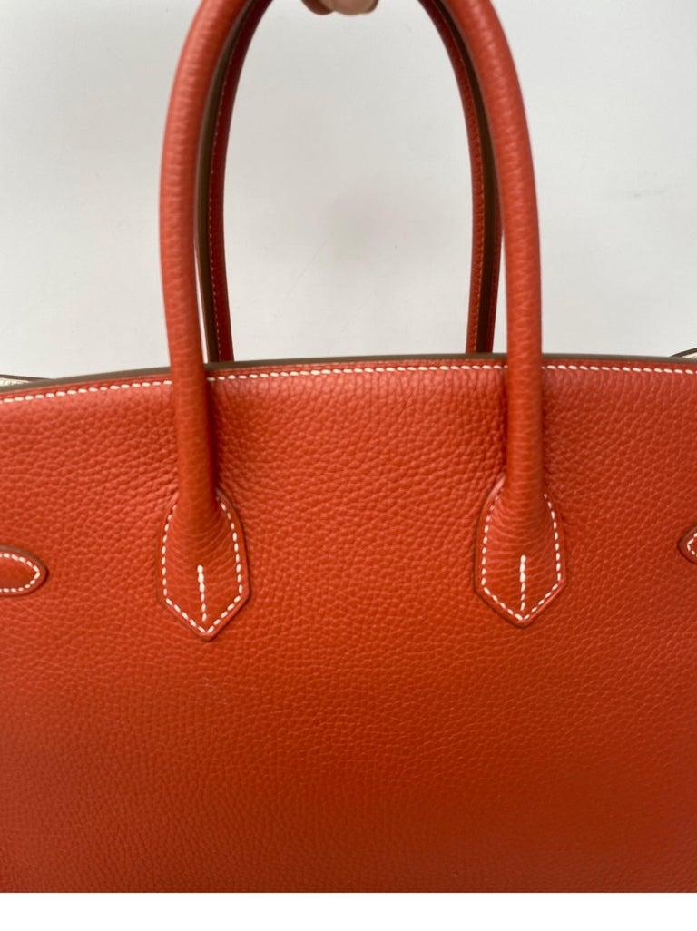 Hermes Sanguine Two Tone Birkin 35 Bag  For Sale 9