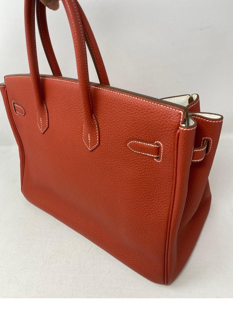 Hermes Sanguine Two Tone Birkin 35 Bag  For Sale 10