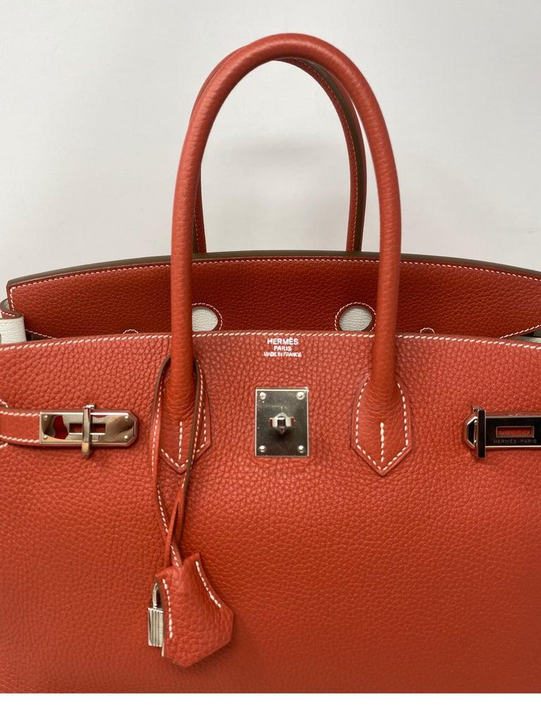 Hermes Sanguine Two Tone Birkin 35 Bag  For Sale 12