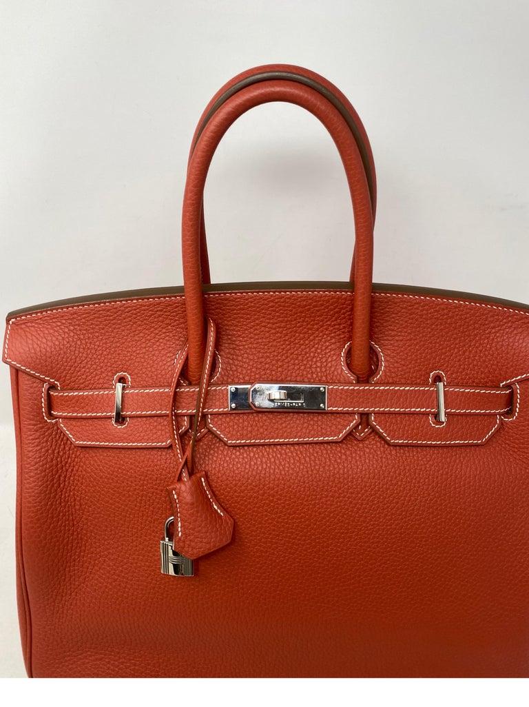 Hermes Sanguine Two Tone Birkin 35 Bag  For Sale 13