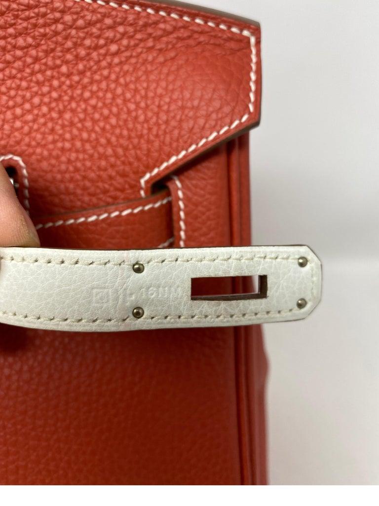 Hermes Sanguine Two Tone Birkin 35 Bag  For Sale 14