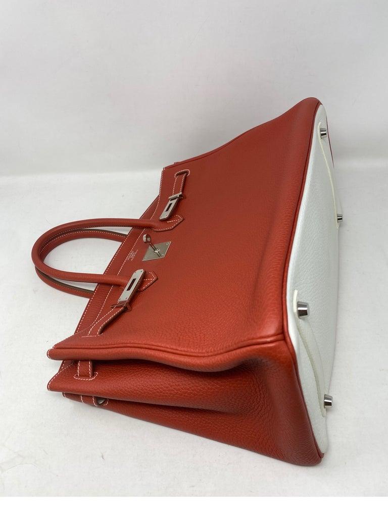 Hermes Sanguine Two Tone Birkin 35 Bag  For Sale 1