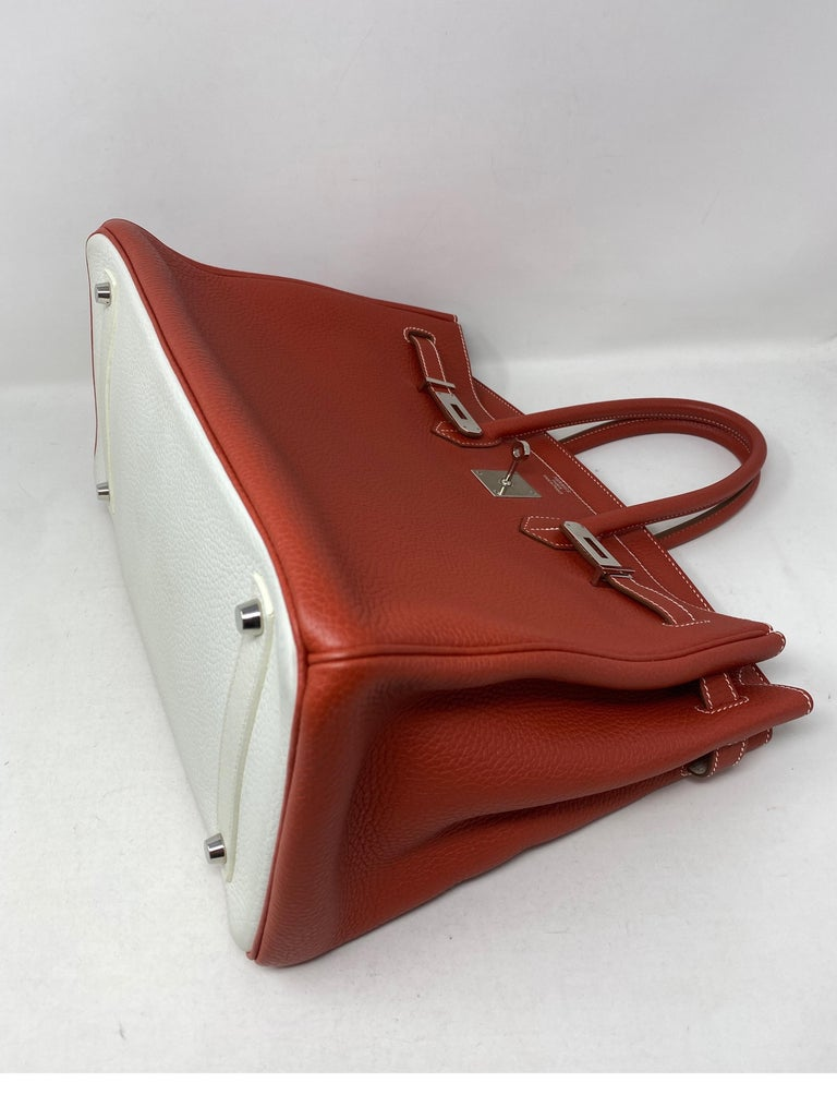 Hermes Sanguine Two Tone Birkin 35 Bag  For Sale 2