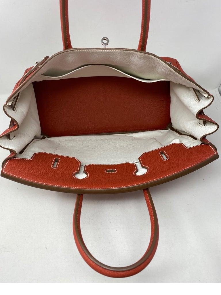 Hermes Sanguine Two Tone Birkin 35 Bag  For Sale 3