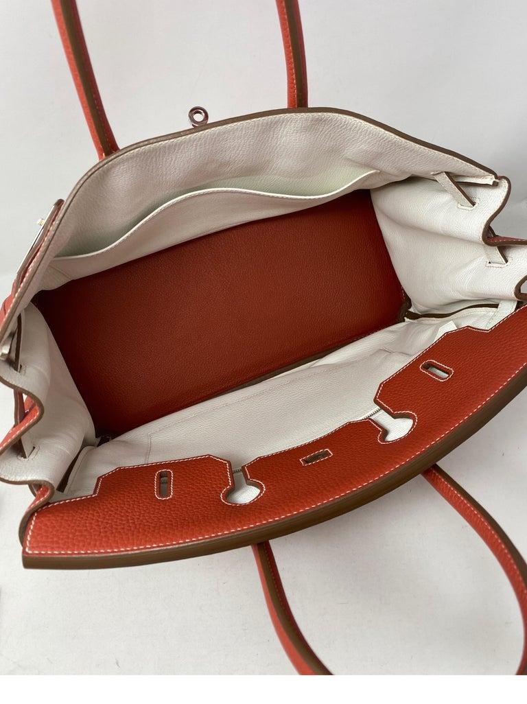 Hermes Sanguine Two Tone Birkin 35 Bag  For Sale 4